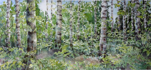 Caroline Ward-Raatikainen Plentiful II watercolour £630 Winner of The Artist Prize
