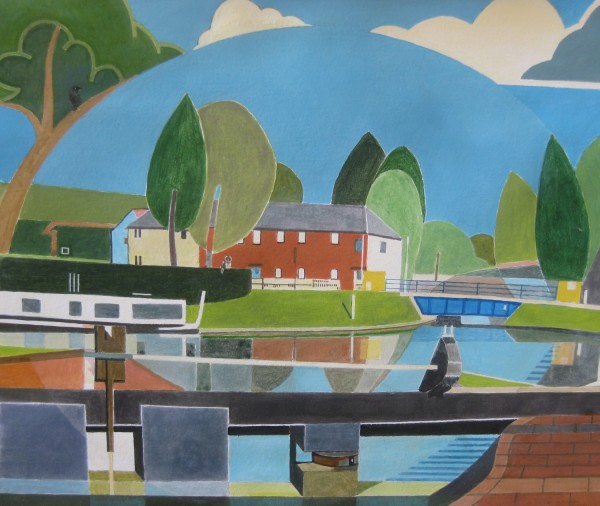 Philip Youd Aldermaston Lock (A Midsummer Day's Dream) acrylic £400