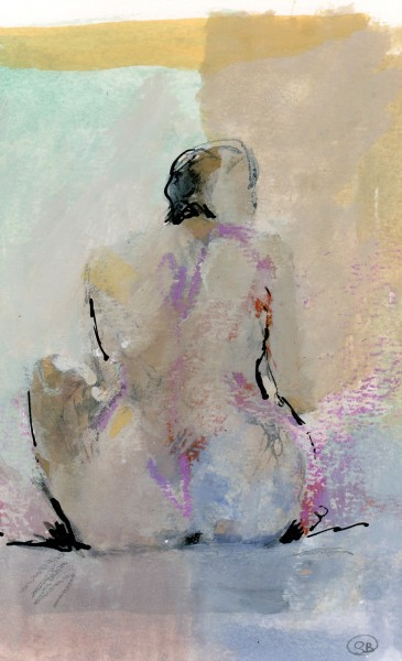 Simon Bergin Figure III watercolour, gouache & ink £470 Judge's Choice Selected by June Berry RWS RWS Artist