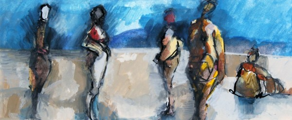 Simon Bergin Five Figures watercolour, gouache & ink £490