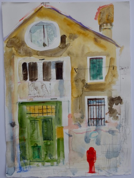 Chloe Cheese Once a House for a Destitute Women watercolour & pencil £600