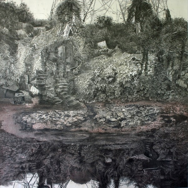 Juliette Losq Labyrinth watercolour & ink £5500 Judge's Choice Selected by Kristian Day Independent Gallerist & Curator