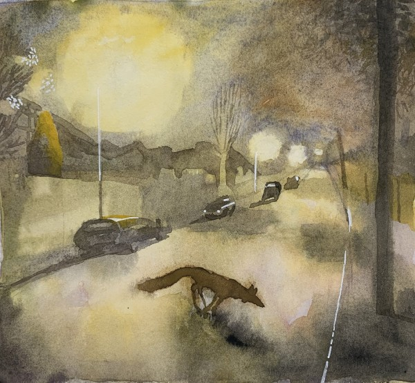 Jane Lydbury Denizen of the Night watercolour & bodycolour £250