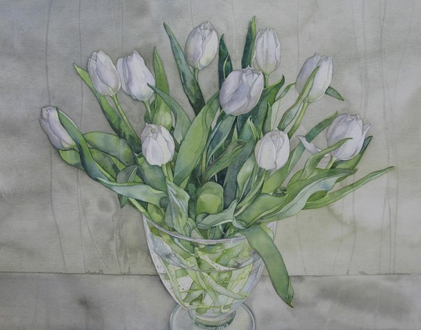 Amanda Nester White Tulips watercolour £650