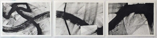 Lois Gardner Sabet Ink Triptych IV indian ink £450