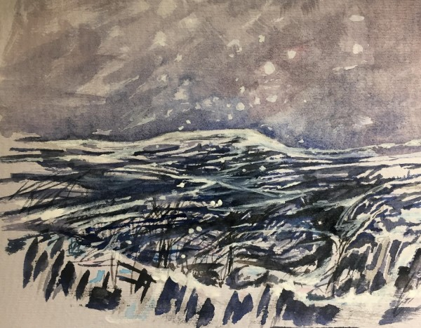 Susan Strange First Snows watercolour £320