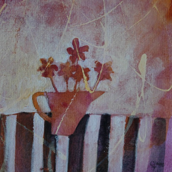 Clare Tebboth Jug with Flowers watercolour, gouache & ink £275