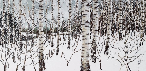 Caroline Ward-Raatikainen February, Finland 2019 watercolour & sand £650 Judge's Choice Selected by Tim Sayer Journalist & Art Collector