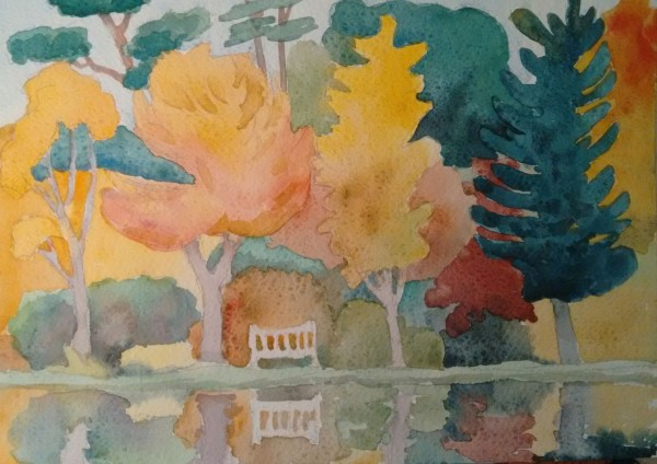 Alison Warner Arboretum watercolour £325 Judge's Choice Selected by Jill Leman PRWS RWS Artist & President