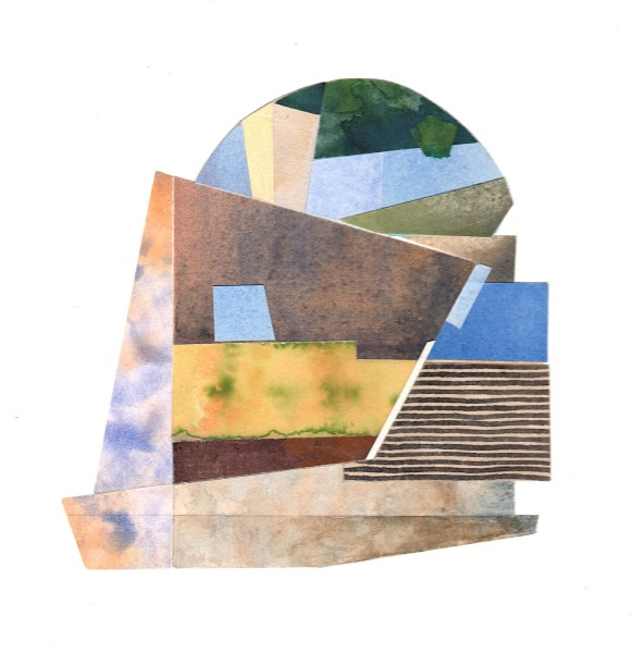 Roy Willingham Volterra Arch collaged watercolour £650