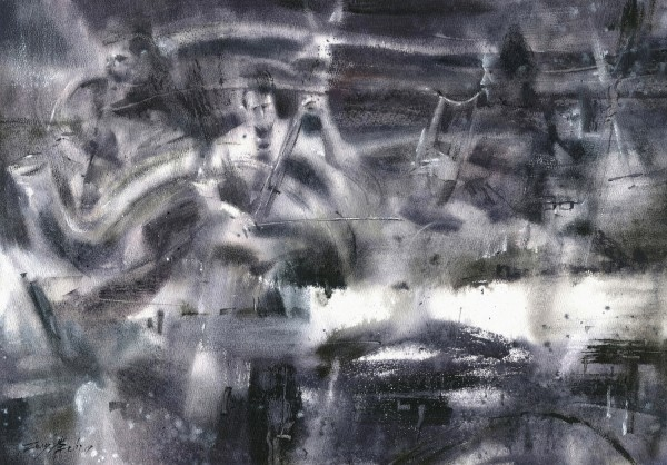 Chong-Zhi Zeng Jazz 1 watercolour £1300
