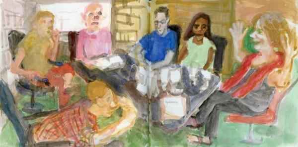 Johanna Zhang Spontaneity watercolour £400
