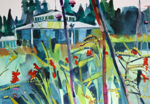 Ann Russell, Crocosmia to Glass House Mount Stuart House
