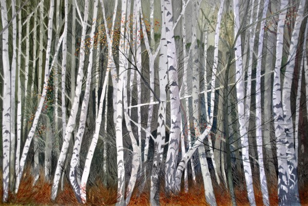Peter Shuttleworth, Silver Birch, Winter, Millgate Fields