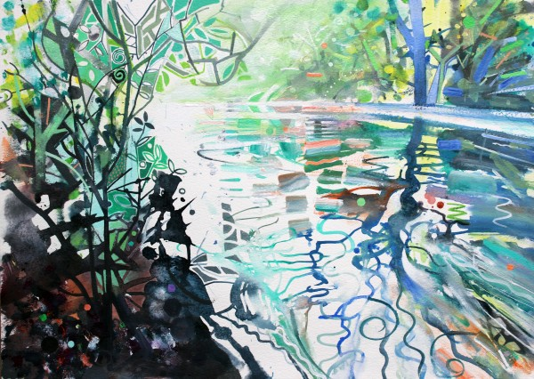 David Wiseman, Pitshanger Riverside - Summer Morning