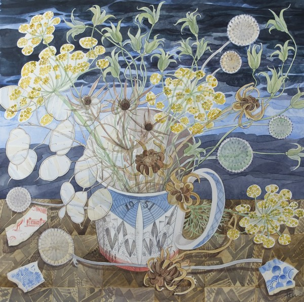 Angie Lewin, Festival of Britain Mug with Garden Seedheads
