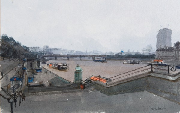 John Newberry, The Thames from Westminster Bridge