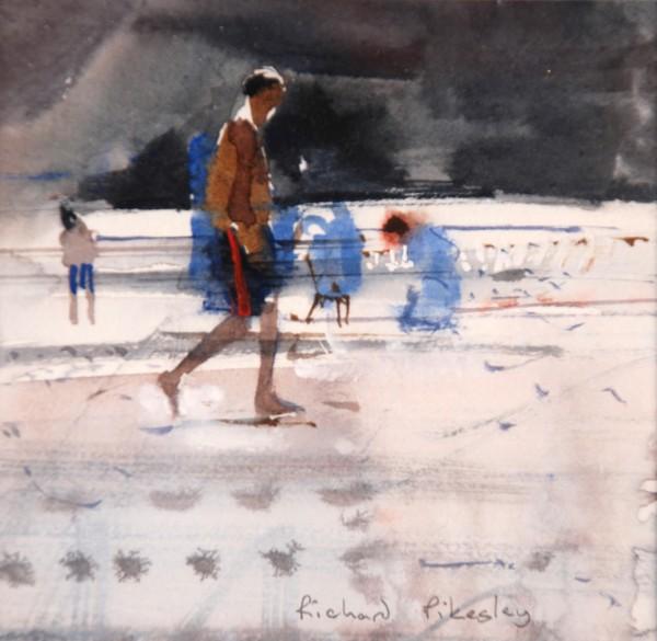 Richard Pikesley, Beach Walkers, Falling Tide
