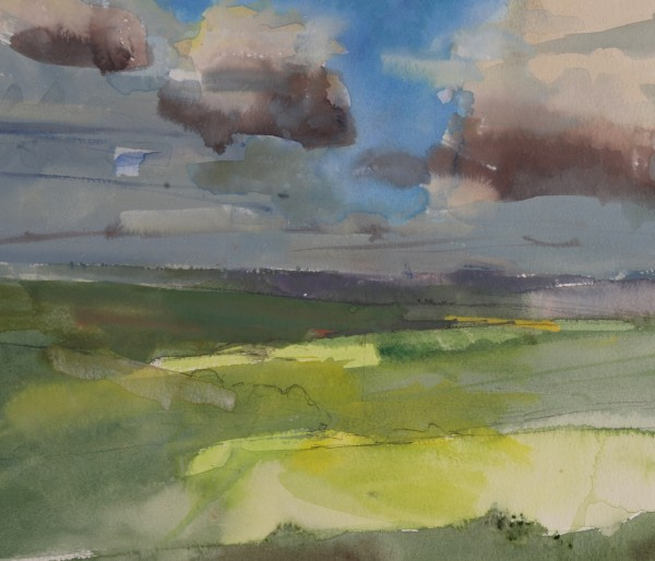 Richard Pikesley, Long View South, Eggardon, Winter