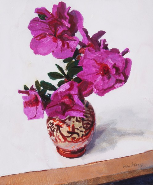 John Newberry, Azalea in a Lustre Pot