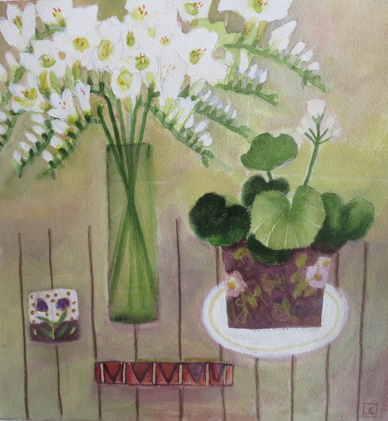 Jill Leman VPRWS, Flowers on my Table