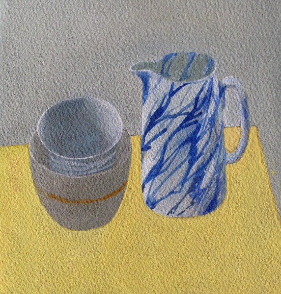 Wendy Jacob, Marbled Jug and Two Bowls
