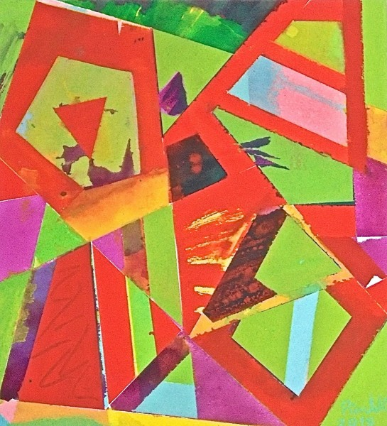 Geoffrey Pimlott, Untitled Composition for Red and Green