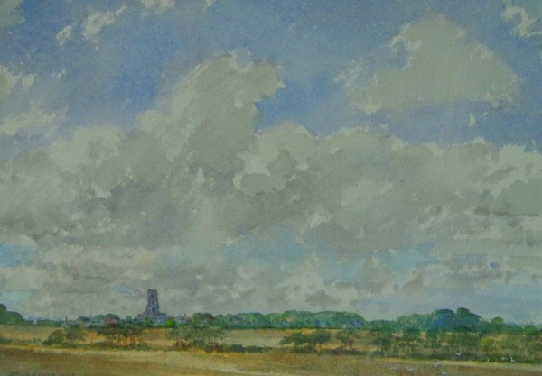 David Payne, Suffolk Landscape with Church