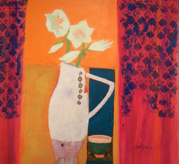 Janet Golphin, Amaryllis on Orange
