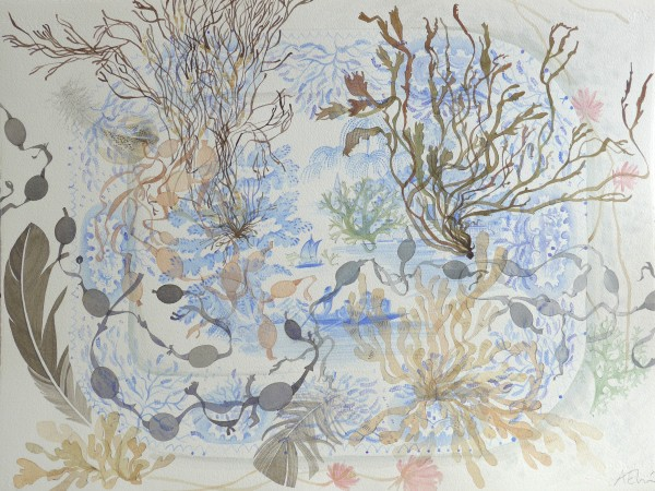 Angie Lewin, The Blue Platter