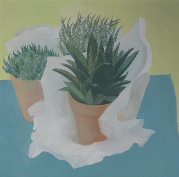 Wendy Jacob Unwrapping Plants gouache 53 x 53cm