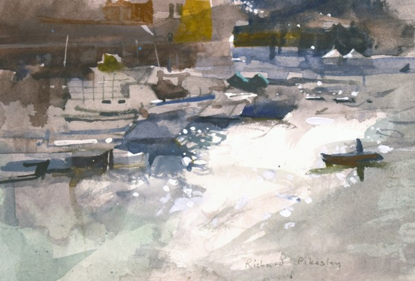 Richard Pikesley Into the Light, Isola di Ponza watercolour Frame: 28 x 35 cm Artwork: 11 x 17 cm