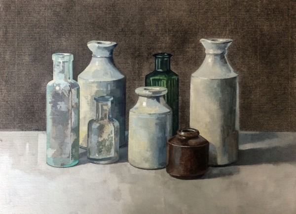 Stuart Robertson, Still Life with Brown Pot