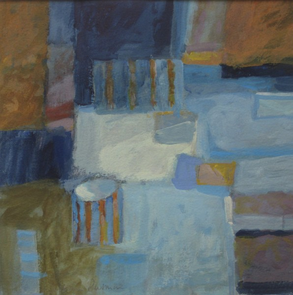 Salliann Putman Colour in the Studio watercolour & gouache Frame: 42 x 42 cm Artwork: 25 x 25 cm