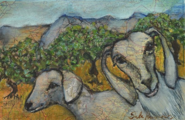 Sula Rubens, Two Young Goats Study
