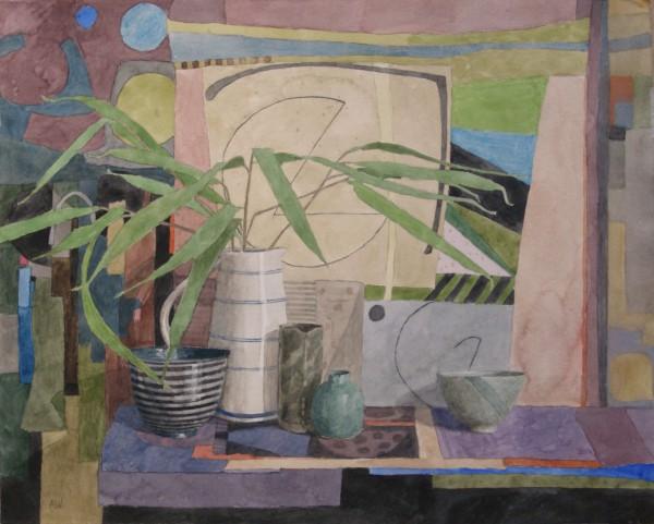 Annie Williams Bamboo watercolour 58x67cm