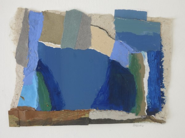 Martin Leman Cornwall acrylic & collage Frame: 22 x 27 cm Artwork: 12 x 17 cm