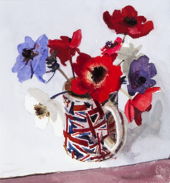 John Newberry, Anemones, Red White and Blue