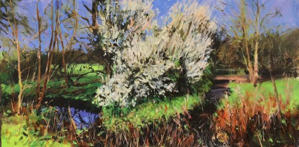Paul Regan Meandering XII acrylic Frame: 37 x 65 cm Artwork: 29 x 57 cm