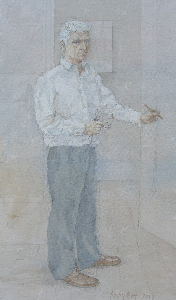Dennis Roxby Bott Self Portrait watercolour 69x48cm