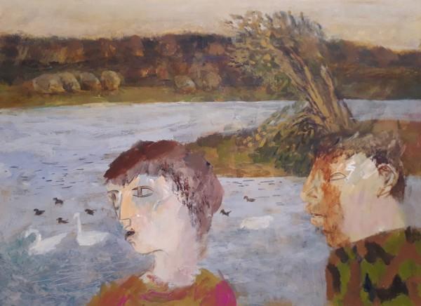 Richard Sorrell A Walk by the Lake acrylic