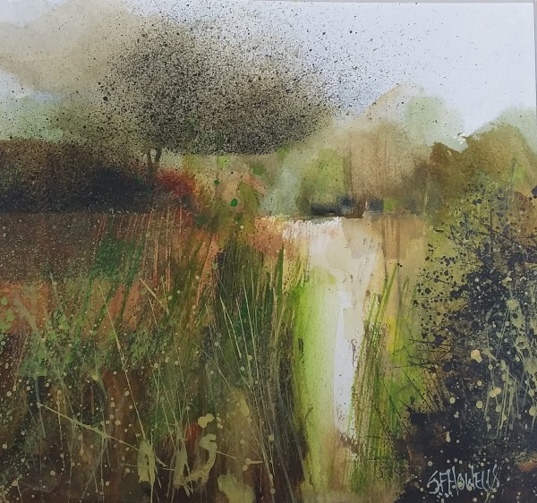 Sue Howells Summer's Edge watercolour 53x53cm