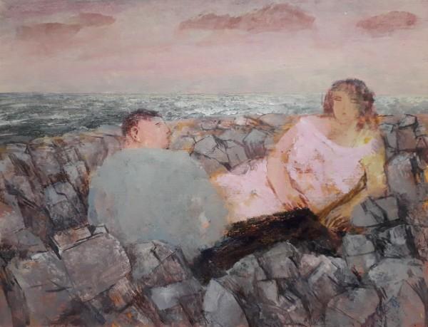 Richard Sorrell A Rocky Shore acrylic