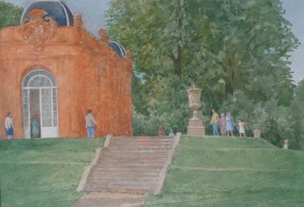 David Payne To the Orangery - Wrest Park watercolour 35x42cm