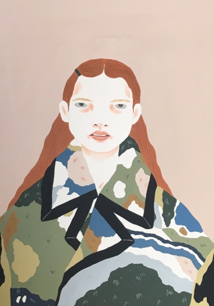 Alessandra Genualdo Spring Landscape gouache & coloured pencil Artwork: 29.7 x 21 cm Frame: 40 x 30 cm