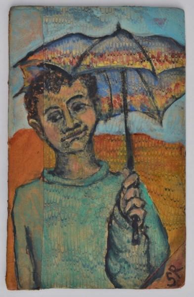 Sula Rubens, Child with Umbrella