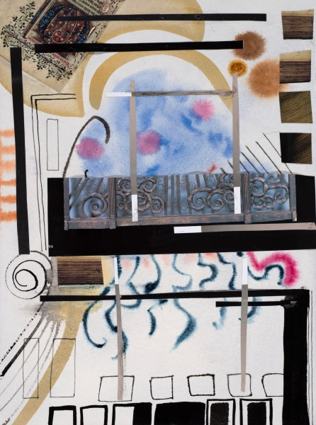 Chloe Fremantle Evocations Window 13 collage Artwork: 34 x 25 cm