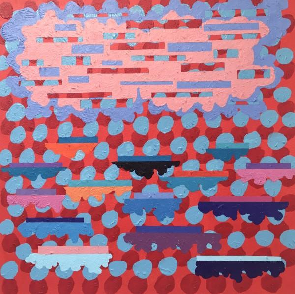 John Crossley Rising High acrylic Frame: 52 x 50 cm Artwork: 35 x 35 cm