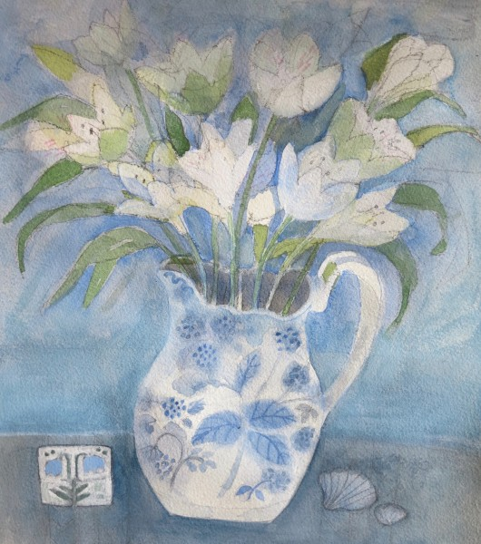 Jill Leman A Favourite Jug Watercolour