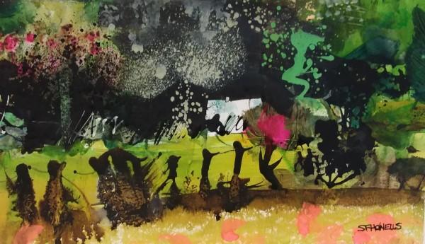 Sue Howells Midsummers Night watercolour & ink 56x41cm